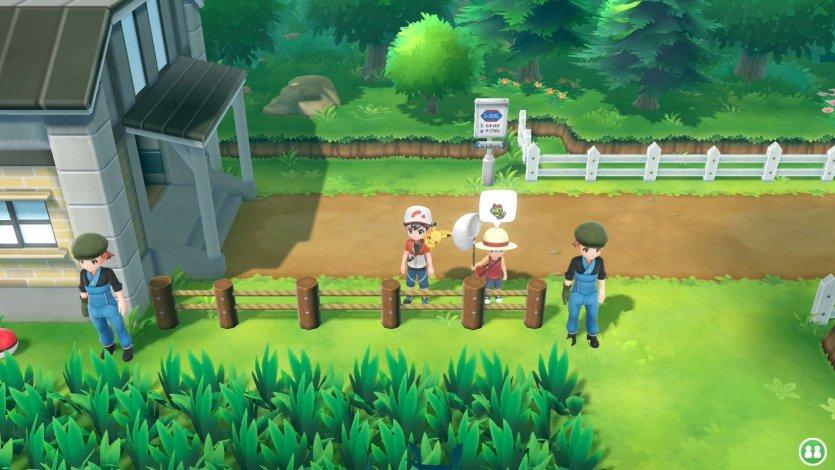 Imagen oficial del postgame de Pokémon Let's GO Pikachu y Let's GO Eevee donde se ve un Entrenador Maestro